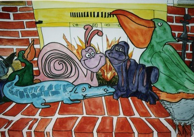 Creatures by the Fireplace