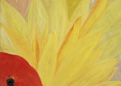 Sunflower and Tomato